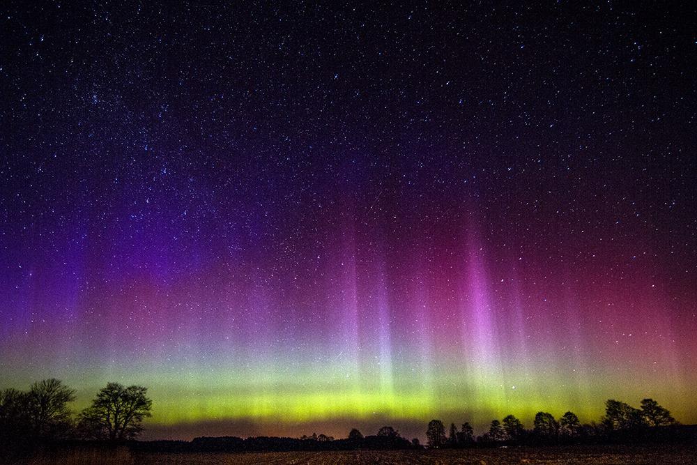 Aurora in northern Poland.