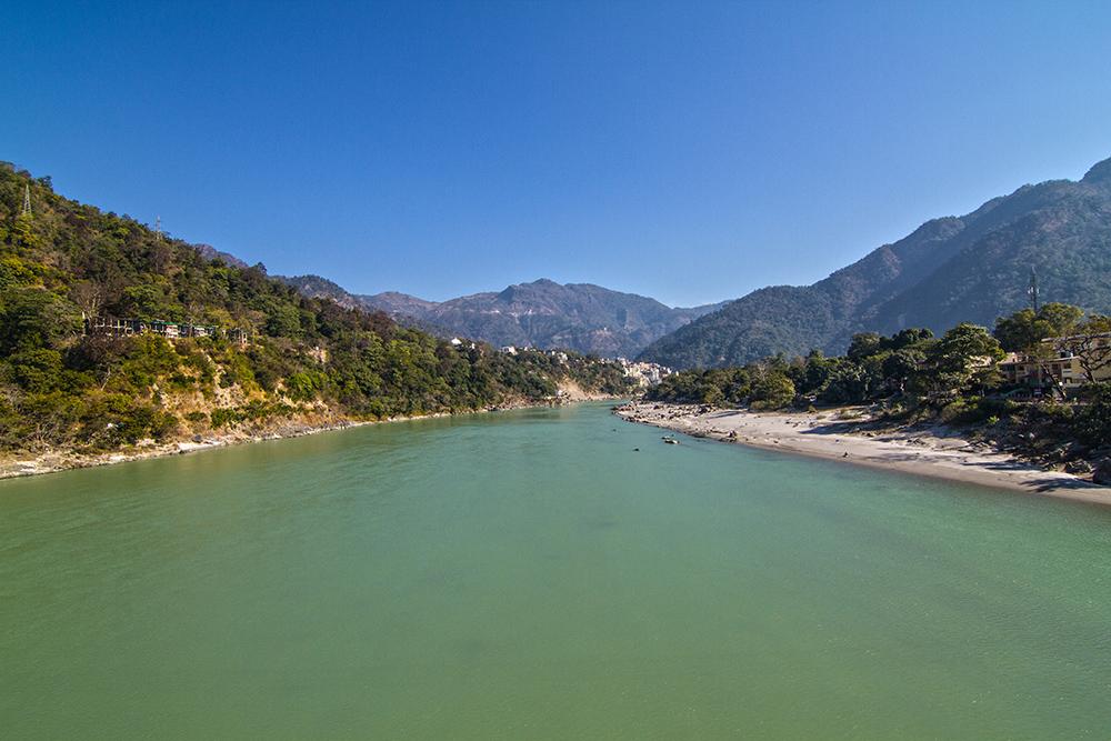Landscape photography: Ganges river, Rishikesh, India