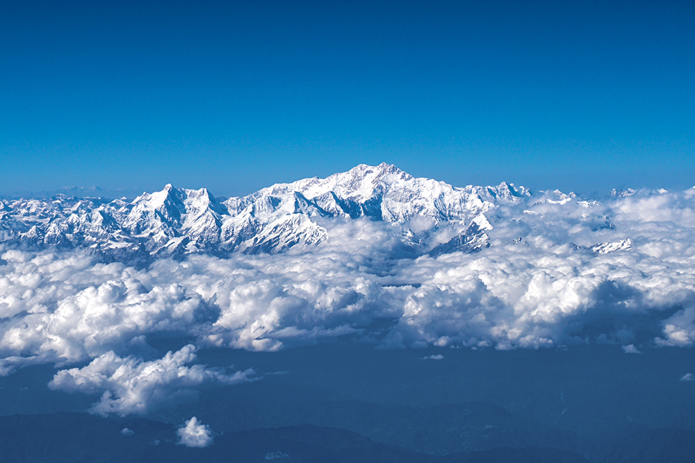 Kangchenjunga mountain range, India