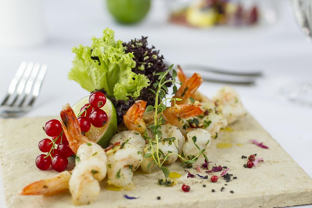 Food photography & styling: prawns