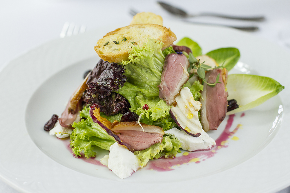 Food photography & styling: Duck salad