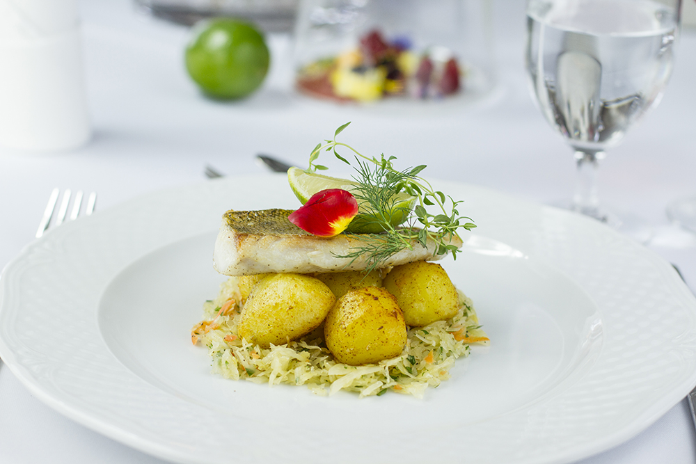 Food photography & styling: Trout with potatoes