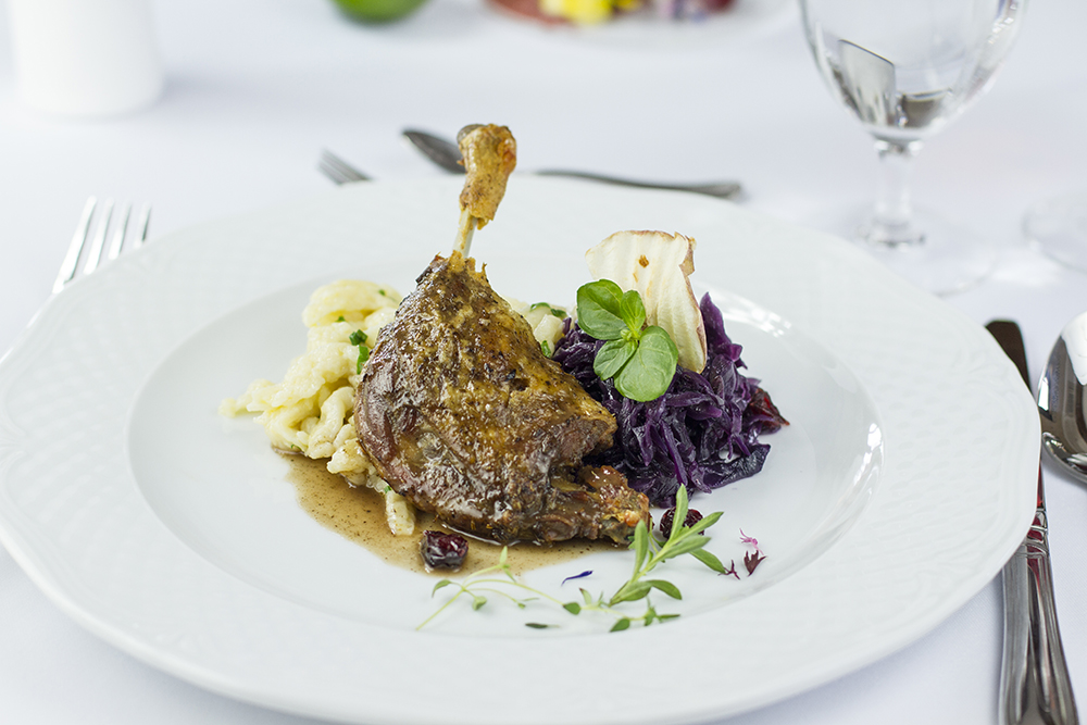 Food photography & styling: Duck leg with dumplings