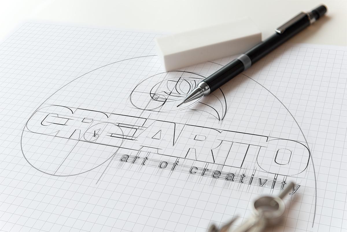Crearto logo sketch